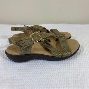 SAS Cross Strap Sandals Suede Leather Adjustable